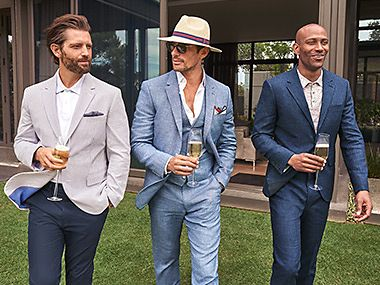 Models in summer suits