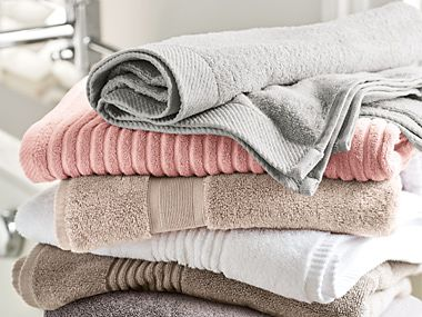 A pile of folded towels