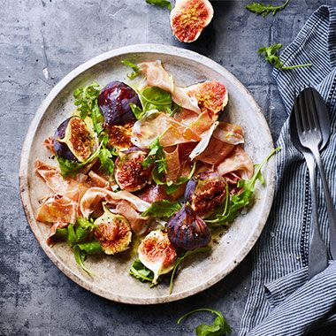 A fig and parma ham salad
