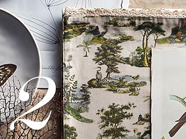 Fabric with a botanical print