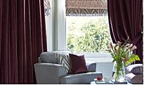 Made-to-measure curtains and blind