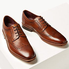 Mens brown smart shoes
