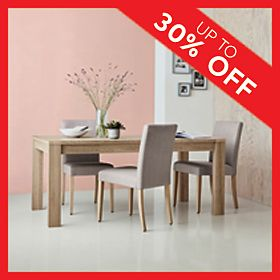 Arlo wooden dining table and chairs