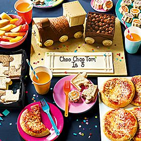Selection of children's party food