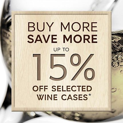 Raise a glass to our wine deal