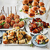A selection of savoury party food