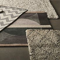 Plain rugs and patterned rugs