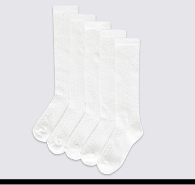 Classic long cotton M&S school socks