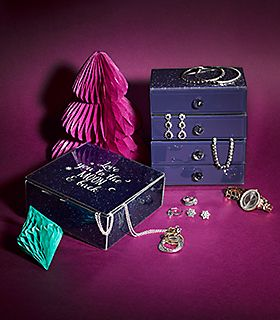 Jewellery boxes filled with jewellery