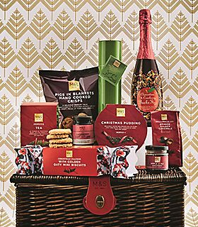 Champagne and chocolate truffles hamper