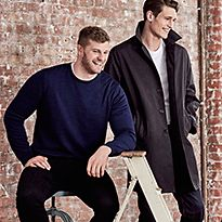 Men wearing big and tall clothing