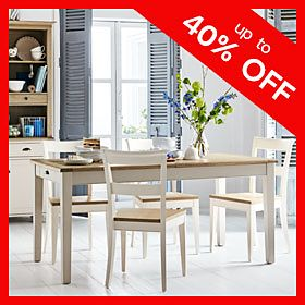 Albany wooden dining table and chairs