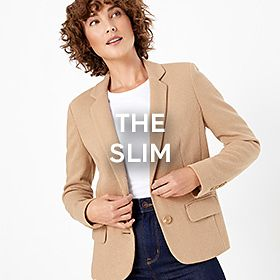 Woman wearing slim blazer