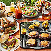 A summer barbecue spread