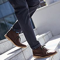 Man wearing smart footwear