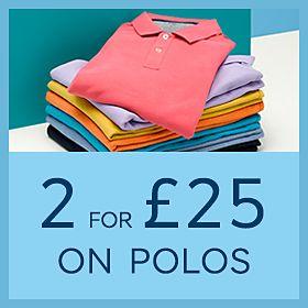 b9dd6edf Mulitcoloured men's polo shirts in a stack