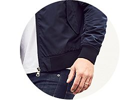 Mens bomber jacket and jeans