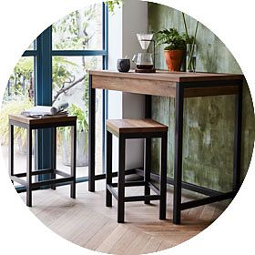 Industrial chic dining room furniture
