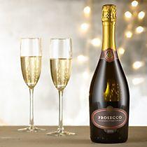 96e466c604e Bottle of prosecco and two glasses