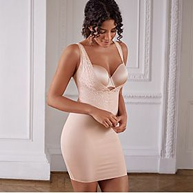 Woman wearing nude shapewear
