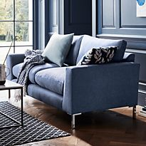 Adwell blue sofa in living room