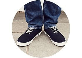 Mens sneakers and jeans