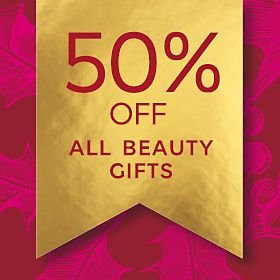 50% off all beauty gifts graphic