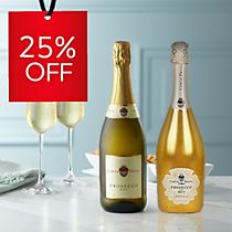 Save 25% on prosecco, from just £9 a bottle