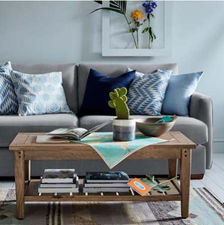 Nantucket corner sofa with cushions and living room furniture