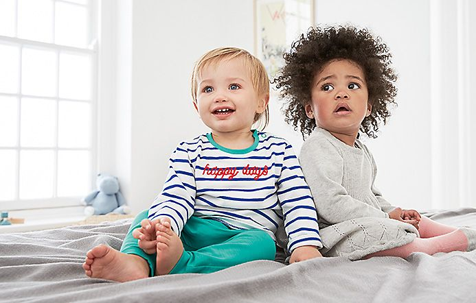 Toddlers wearing M&S babywear