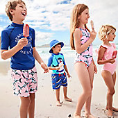 Kids wearing M&S swimwear