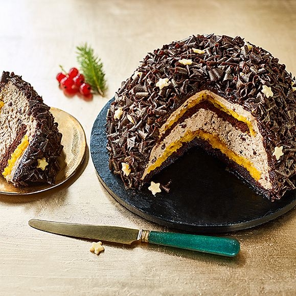 Collection chocolate Jaffa bombe