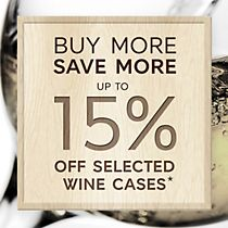 Save up to 15% off wine cases
