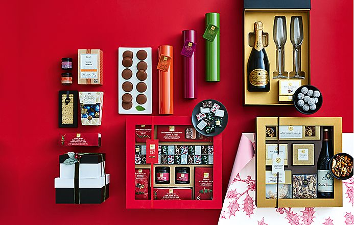 Selection of luxury Christmas food and drink gifts