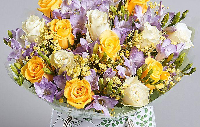 Purple And White Alstroemeria Bouquet