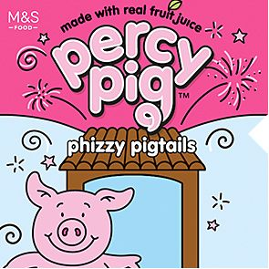 Percy Pig phizzy pigtails sweet packet