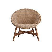 A wicker chair