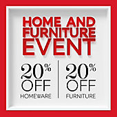 20% off homeware and 20% off furniture