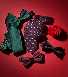 Selection of men's ties and bow ties