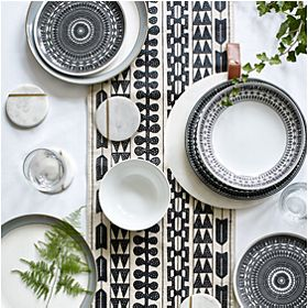 Savanna crockery on dining table