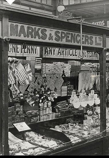 Marks & Spencer's Cardiff store selling food items, pre-1901