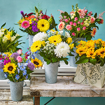 Bouquets of summer flowers